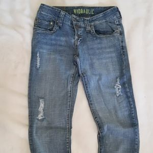 Hydraulic Distressed Jeans
